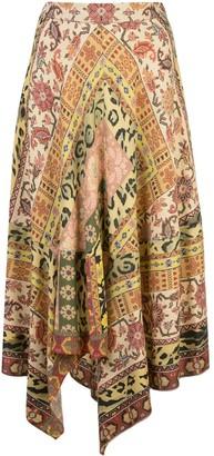 Etro Carpet-print midi skirt