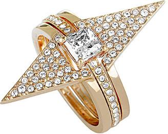 Swarovski Crystal Plated Set Of Rings