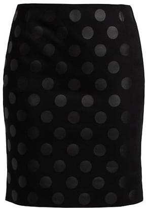 Akris Punto Lacquered Polka Dot Mini Skirt