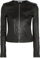 Elizabeth and James Helen Stretch-leather Jacket - US6