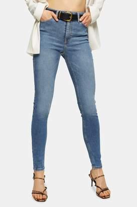 Topshop Womens Mid Blue Jamie Jeans - Mid Stone