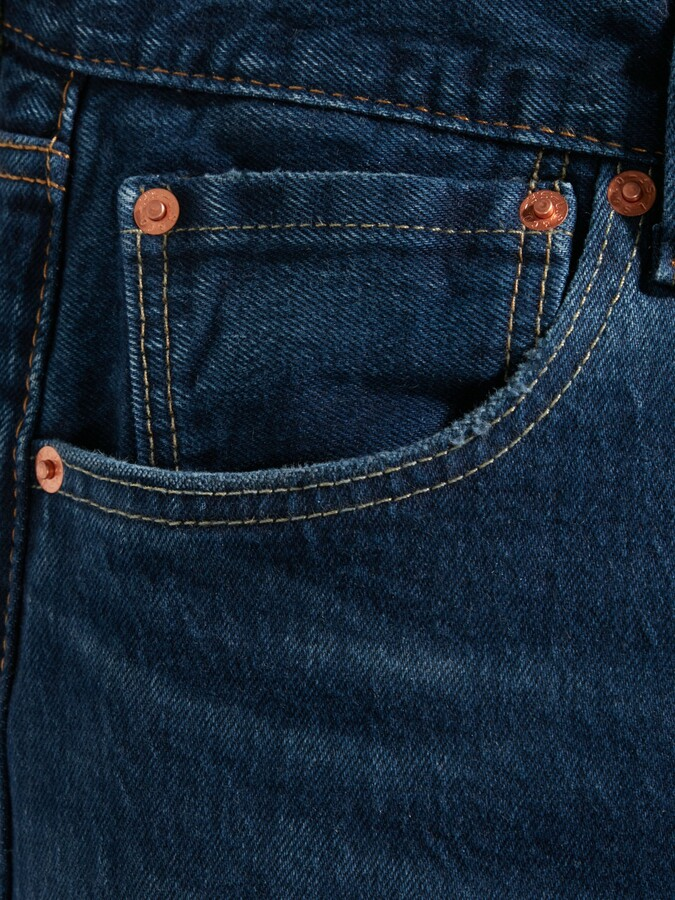 Thumbnail for your product : Levi's 501 Original Straight Jeans, Mid Blue
