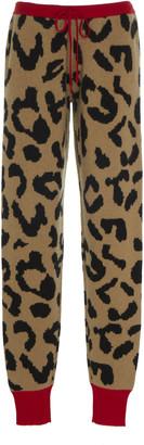Madeleine Thompson Notus Intarsia Cashmere-Blend Track Pants