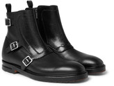 Alexander Mcqueen - Leather Monk-strap Boots
