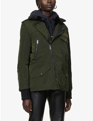 Zadig & Voltaire Faux-fur trimmed woven parka coat