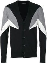 Neil Barrett intarsia geometric cardigan - men - Cotton - M