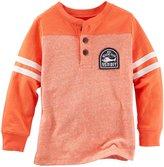 Osh Kosh Colorblock Henley (Toddler) - Orange - 4T