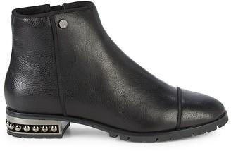 Karl Lagerfeld Paris Safia Leather Embellished Ankle Booties