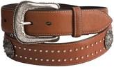 Roper Concho Detail Leather Belt (For Men)