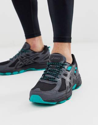 Asics Gel Venture 6 trail trainers in triple black