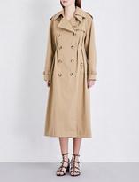 Valentino Rockstud Untitled cotton-gabardine trench coat