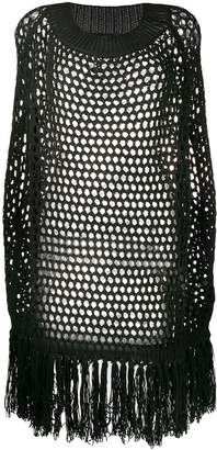 DSQUARED2 open weave knitted dress