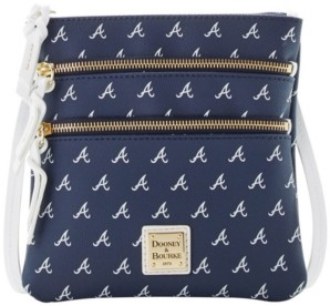 Dooney & Bourke Atlanta Braves North South Triple Zip Purse