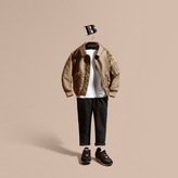 Burberry Technical Bomber Jacket with Check Wool Cashmere Lining
