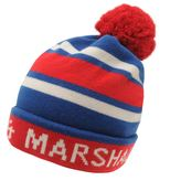 Franklin And Marshall Logo Bobble Beanie Hat
