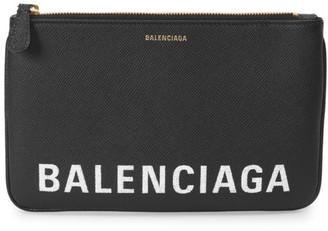 Balenciaga Ville Leather Pouch