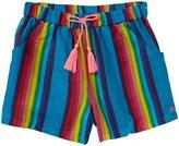 Pink Chicken Camp Shorts (Toddler/Kid) - Blue Multi Stripe-5 Years
