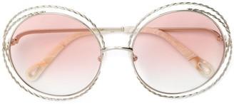 Chloé Eyewear Carlina Chain round-frame sunglasses