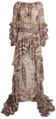 Etro Paisley Dipped Hem Dress