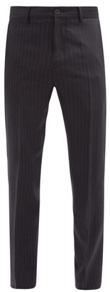 Acne Studios Jellica Pinstripe Wool-blend Suit Trousers - Navy