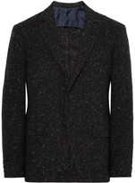 MP Massimo Piombo - Charcoal Slim-fit Unstructured Checked Wool-blend Blazer - Charcoal
