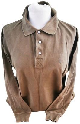 Saint Laurent Khaki Cotton Polo shirts
