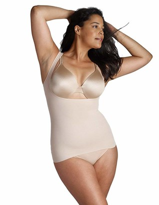 Naomi & Nicole Firm Control Lightweight Shaping Torsette Bodyshaper Open Bust Wear Your Own Bra