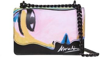 Moschino Womans Drawing Crossbody Bag