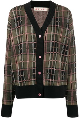 Marni Checked Boxy Cardigan