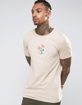 Hype T-Shirt With Embroidered Floral Logo