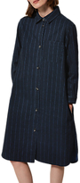 Toast Striped Denim Shirt Dress, Indigo