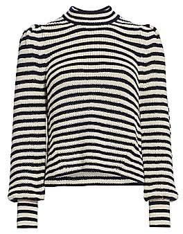 Eleven Paris Six Women's Mia Stripe Baby Alpaca Sweater