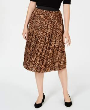 Charter Club Petite Printed Pleated A-Line Skirt, Created for Macy's