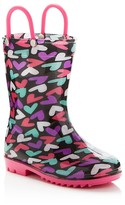 Capelli Girls' Heart Rain Boots - Toddler, Little Kid, Big Kid