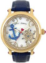 Betsey Johnson Women's Blue Leather Strap Watch 43mm BJ00471-02