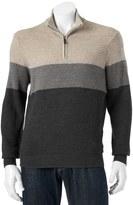 Dockers Men's Classic-Fit Colorblock Comfort Touch Quarter-Zip Sweater