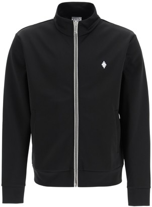 Marcelo Burlon County of Milan Sporty Sweatshirt With Zip And Fire Cross Embroidery