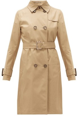 Herno Double-breasted Cotton-gabardine Trench Coat - Camel