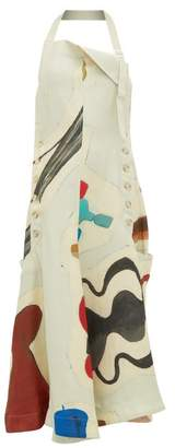 Jacquemus Halterneck Abstract Print Dress - Womens - Ivory Multi