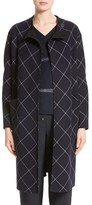 Armani Collezioni Women's Windowpane Wool & Cashmere Wrap Coat