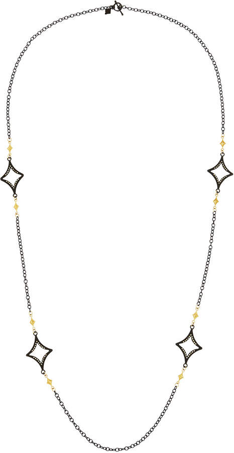Armenta Long Open Cravelli Station Necklace, 36""