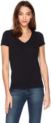 Majestic Filatures Women's Soft Touch Basic Short Sleeve V-Neck