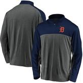 Men's Fanatics Branded Charcoal/Navy Detroit Tigers Windshirt Quarter-Zip Pullover Jacket