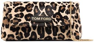 Tom Ford small Label leopard-print shoulder bag
