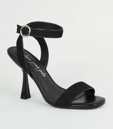 New Look Suedette 2 Part Slim Flared Heels