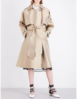 Sharon Wauchob Double-breasted satin trench coat