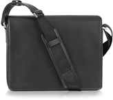 Porsche Design Black Leather Messenger Bag