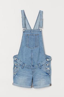 H&M MAMA Dungaree shorts