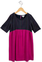Lisa Perry Girls' Striped-Accented Short Sleeve Dress w/ Tags