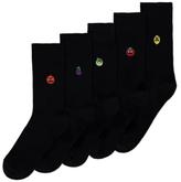 George 5 Pack Fruit Design Feel Fresh Socks